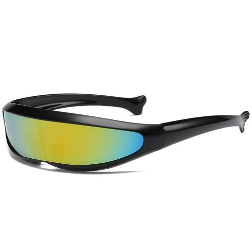Futuristic X-Men Cyclops Goggles Monolens Wrap around Sunglasses