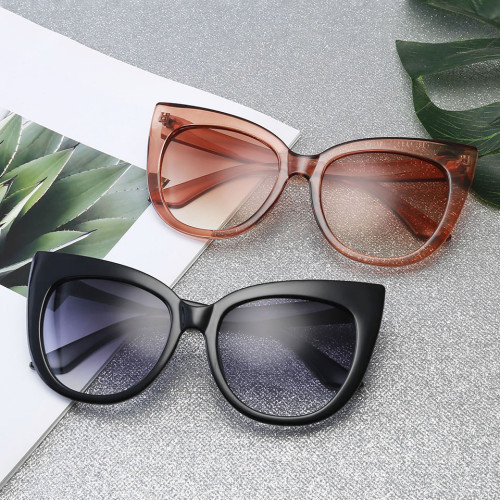 Women Oversized Shades Cat Eye Sunglasses