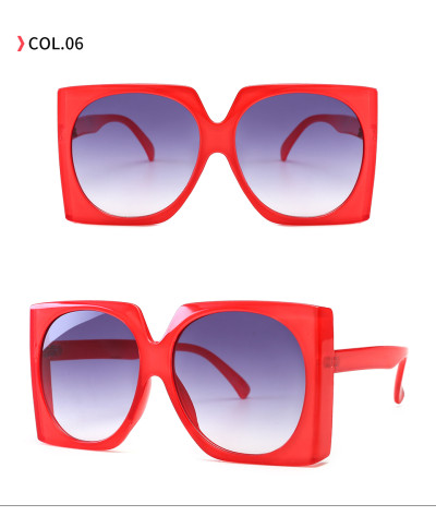 Fashion Women Square Oversized Shades Sunglasses