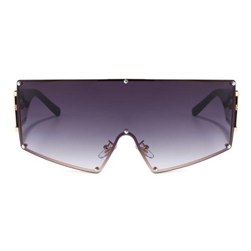 One Piece Lens Oversize Shield Sunglasses