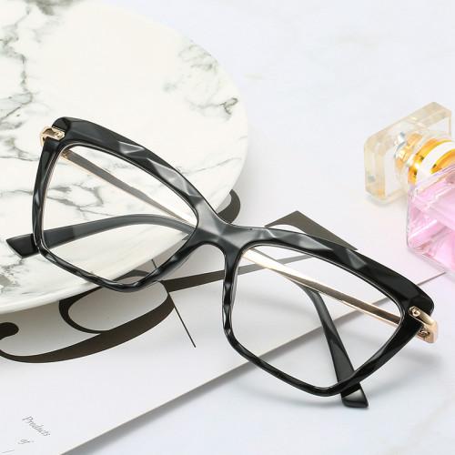 Diamond Cutting Surface Eyeglasses Frames Women Lady Clear Lens Glasses
