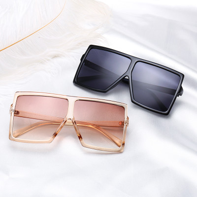 oversize plastic flat top square sunglasses