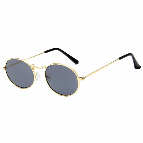 Classic Retro Vintage Small Oval Metal Sunglasses