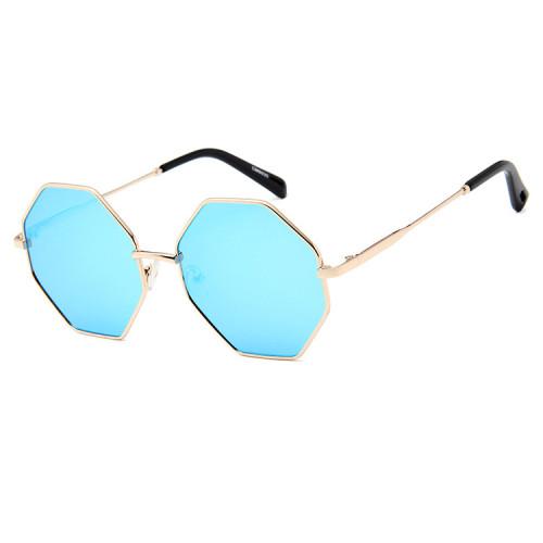 Tinted Lenses Hexagon Metal Sunglasses