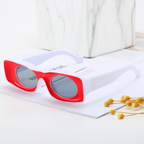 Fashion Retro Vintage White Sunglasses