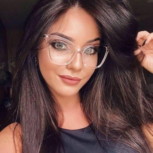 Clear Lens Eyeglasses Frame Women Cat Eye Glasses