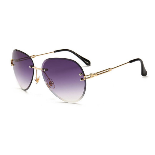 Fashion Sun glasses Women Female Lady Rimless Sunglasses