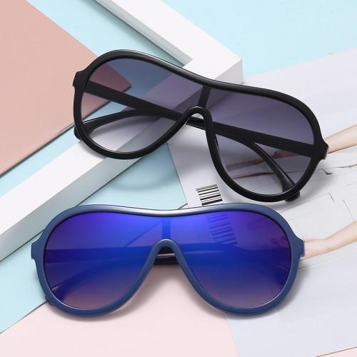 Fashion One Piece Lens Shades Sun glasses Gradient Shield Sunglasses