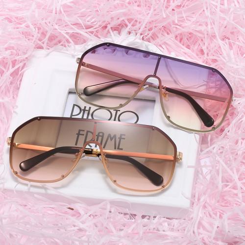 Fashion Mono Lens Sun glasses Men Women Oversized Shades Sunglasses