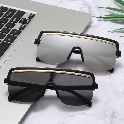 Mono Lens Sun glasses Vintage Half Frame Flat Top Sunglasses