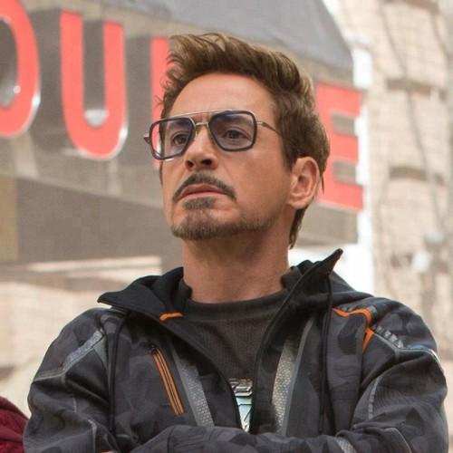 Movie Spiderman Far from Home Tony Stark Sunglasses Edith Glasses