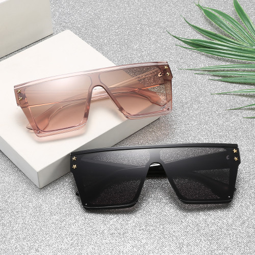 New Fashion Black Flat Top Square Sunglasses