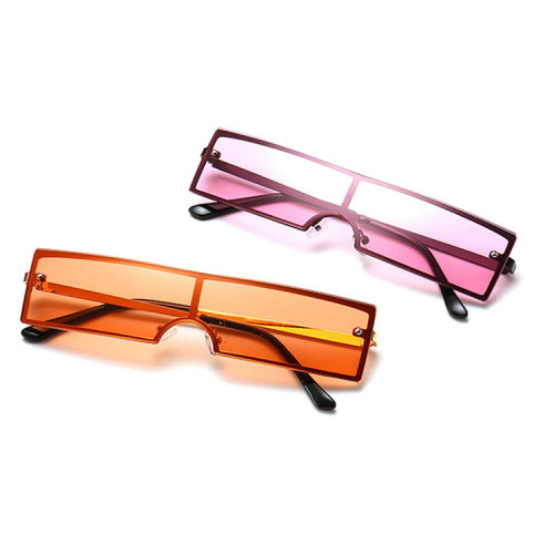 Fashion Ladies Sun glasses Vintage Small Rectangle Sunglasses