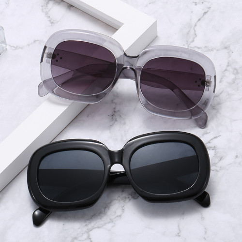 Fashion Brand Designer Oval Round Women Shades Sunglasses