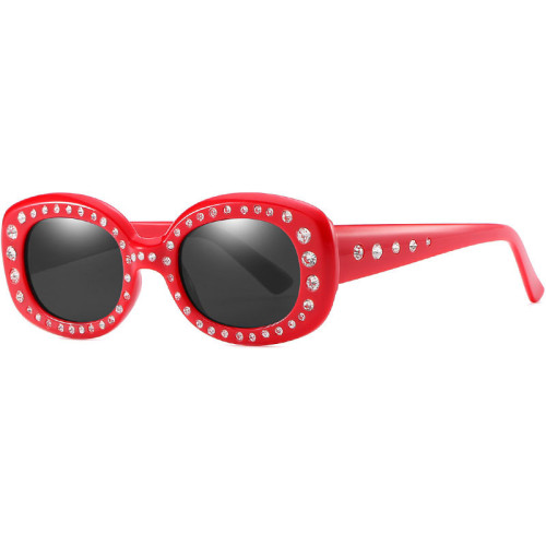 Luxury Vintage Square Women Rhinestone Sunglasses