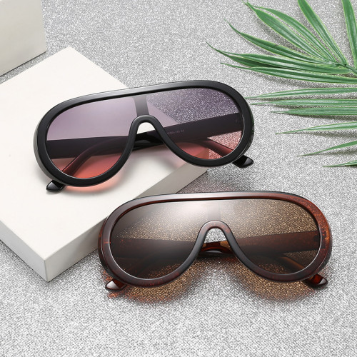 Oversized Shades Sun glasses One Piece Lens Shield Sunglasses