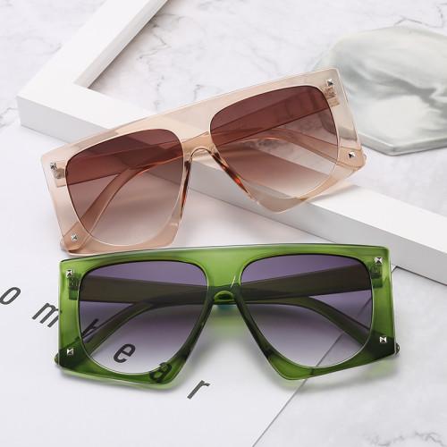 Black Shades Oversized Flat Top Sunglasses