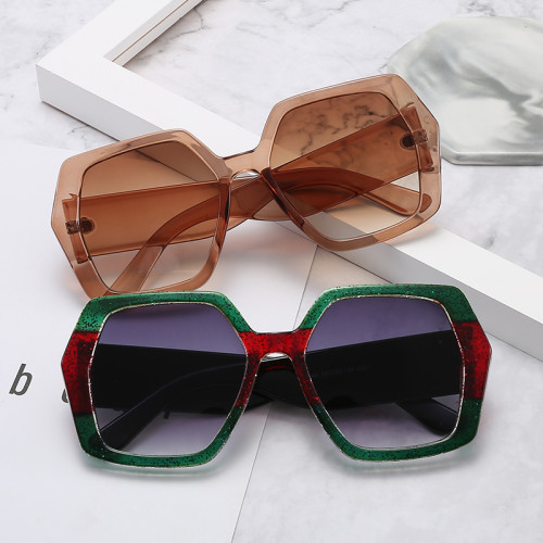 Contrast Color Shades Brand Designer Women Sunglasses