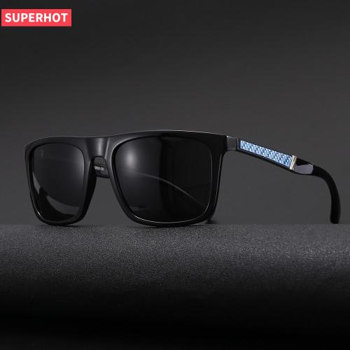 TR90 Frames TAC 1.1 Lenses Men's Flat Top Polarized Driving Sunglasses