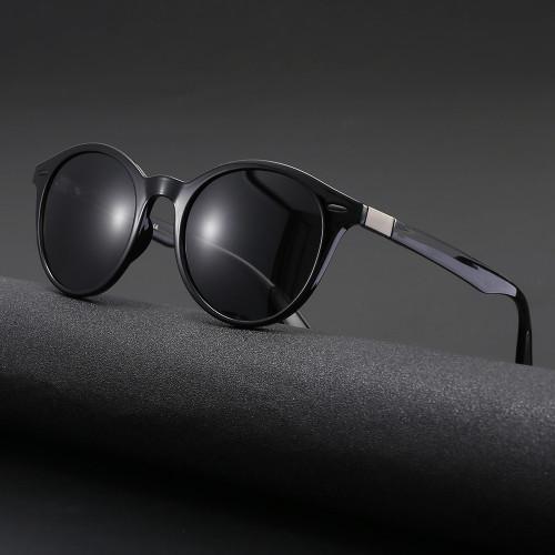 TR90 Frame TAC 1.1 Lenses  Retro Round Polarized Sunglasses