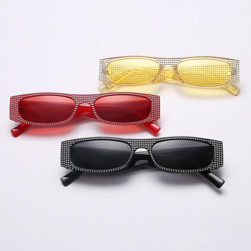 Small Sparkling Plastic Rectangle Sunglasses