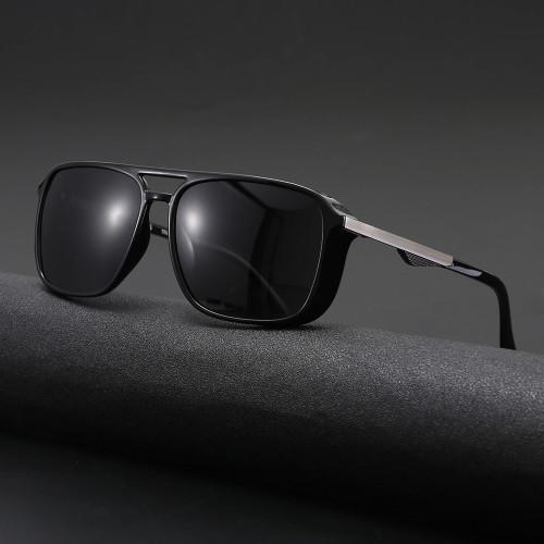 TR90 Frame TAC 1.1 Lenses  Double Bridge Steampunk Polarized Sunglasses