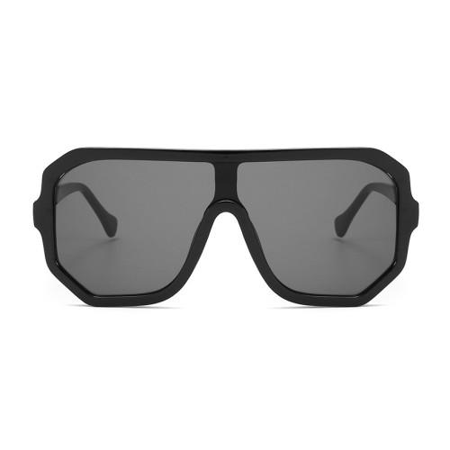 Fashion One piece Lens Sun glasses Shield Oversized Sunglasses