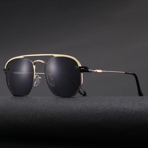 Classic Design Retro Round Metal Polarized Magnetic Clip On Sun glasses