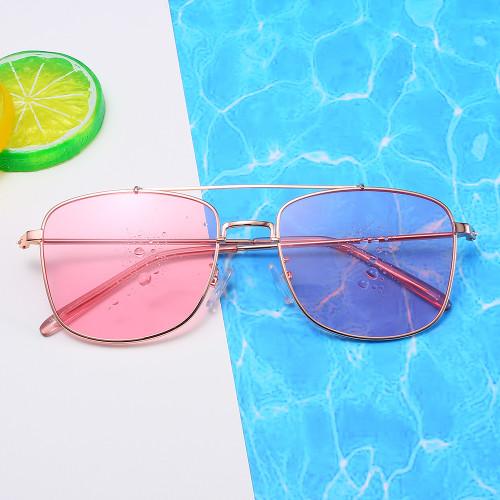 Brand Designer Sun glasses Double Bridge Black Sunglasses