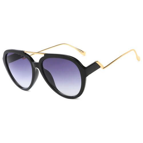 Hot sales Double beam Sunglasses Gradient color frame Stepped sun glasses
