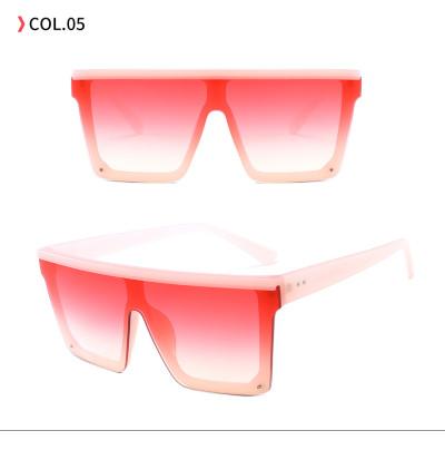 New Men Women Flat Top Sun glasses Black Square Shades Sunglasses