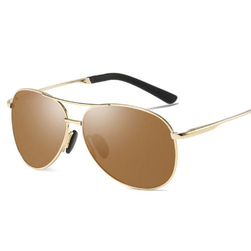Pilot Style Black Shades Men's Polarized Driving Sunglasses