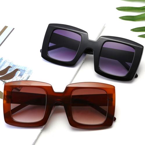 Fashion Women Oversized Square Gradient Shades Sunglasses