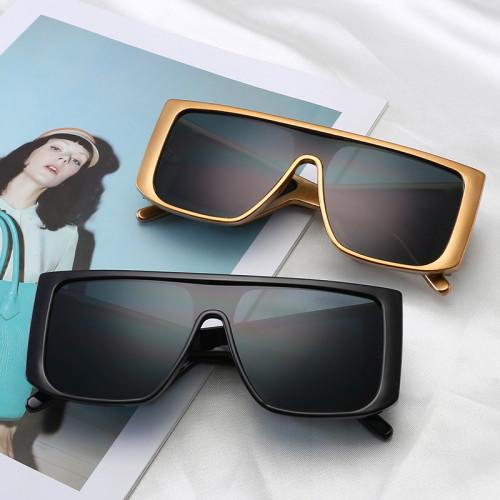 Fashion Flat Top Large Rectangle Frame Shades Oversized Sunglasses