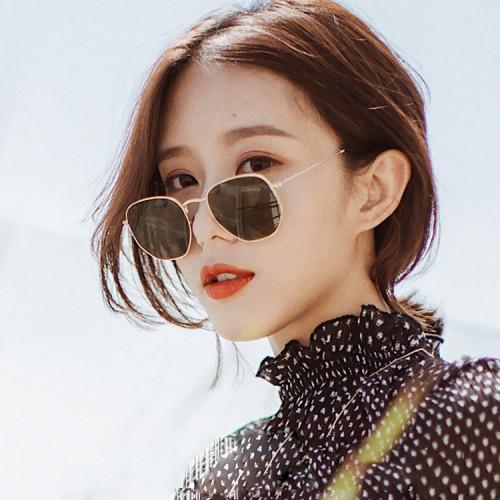 Fashion Brand Designer Sun glasses Metal Sunglasses
