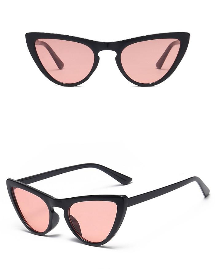 Fashion Tinted Plastic Sun glasses Women Cat Eye Sunglasses