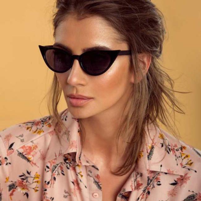 Fashion Designer Women Sun glasses Classic Plastic Lady Small Cat Eye Sunglasses