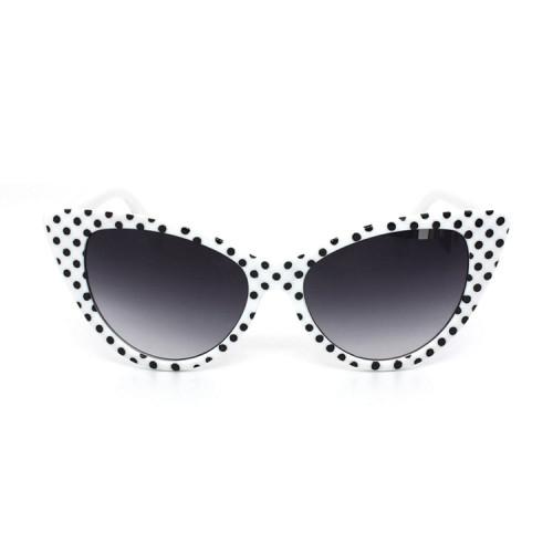 50s Fashion Cateye Sun glasses Retro Vintage Polka Dot Cat Eye Sunglasses