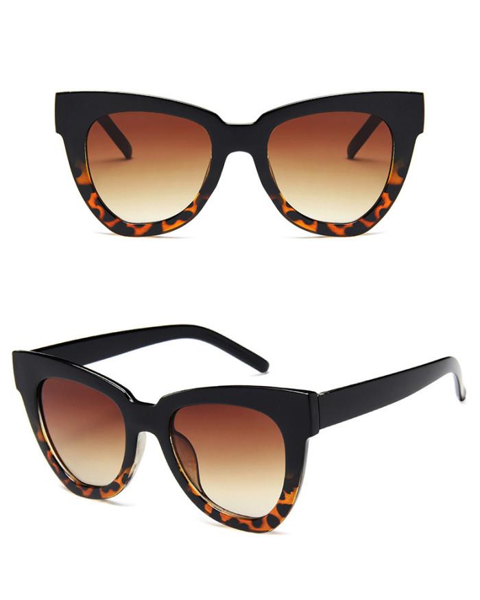 Fashion Women Brand Designer Sun glasses Plastic Gradient Shades Sunglasses