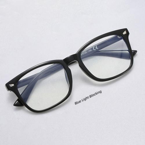 Clear Lens Eyeglasses Frame Square Computer Blue Light Blocking Glasses