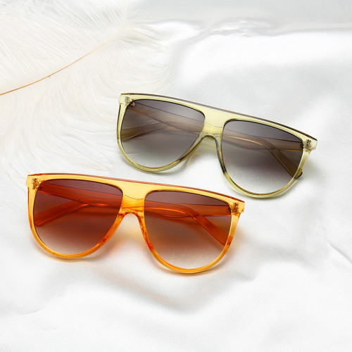 Fashion Women Oversized Flat Top Shades Sunglasses