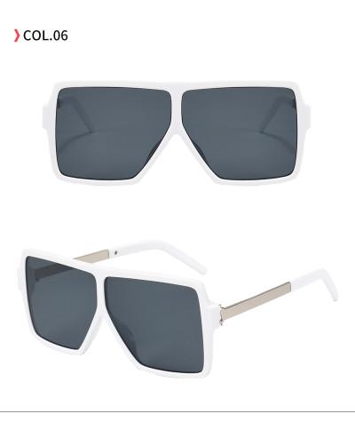 Fashion UV400 Flat Top Sun glasses 2020 Big Frame Oversized Sunglasses