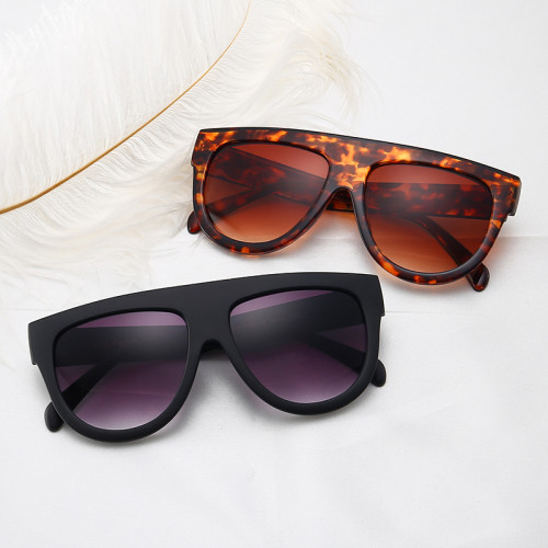 Flat Top Brand Designer Sun glasses Women Oversized Shades Sunglasses