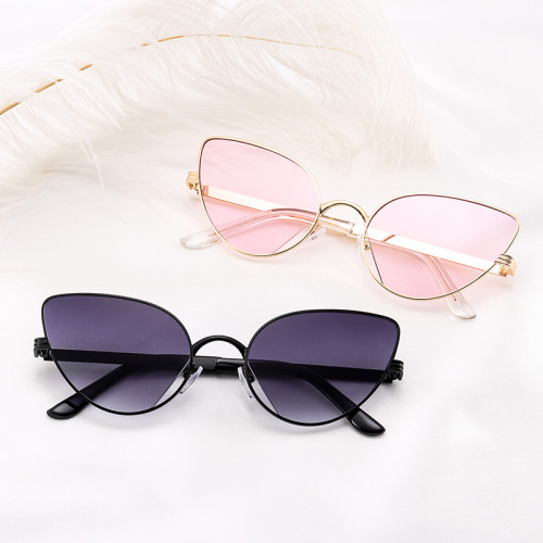 Fashion Brand Designer Sun glasses Metal Cat Eye Sunglasses