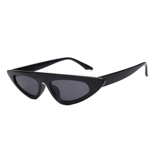 Fashion Women Shades Flat Top Small Cat Eye Sunglasses