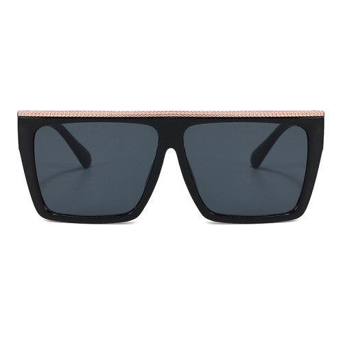 Fashion Black Shades Sun glasses Flat Top Men Women UV400 Sunglasses