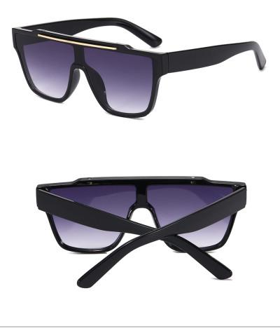 New Fashion Men Women  Mono Lens Sun glasses Flat Top Black Shades Sunglasses