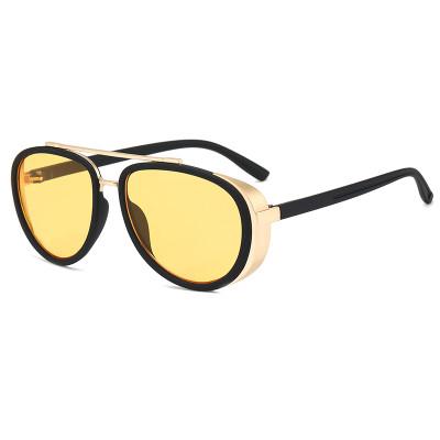 Classic Steam Punk Sun glasses Shades round Sunglasses