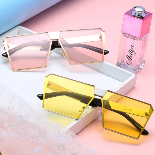 Fashion Square Sunglasses Metal Frame Shades Sun glasses