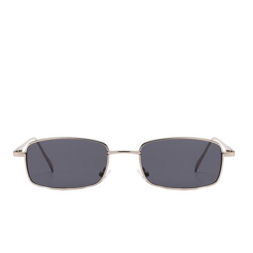 Fashion Men Women Small Metal Rectangle Sunglasses